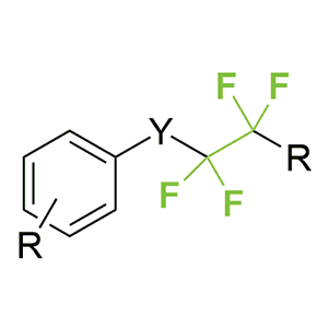 Aromatic derivatives containing the RCF2CF2-group