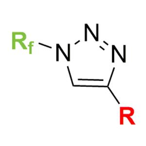 N-Fluoroalkyl triazoles
