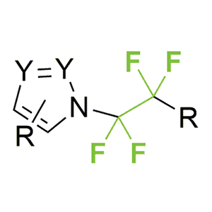 Heteroaromatic derivatives containing the RCF2CF2-group